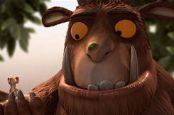 The mouse in The Gruffalo encounters other creatures on his search for a nut.