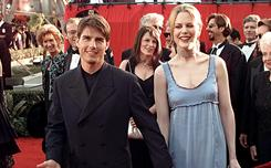 Tom Cruise and Nicole Kidman arrive at th 68th Academy Awards show in 1996. 