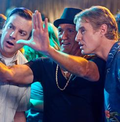 Learning from the master: Perpetual bachelor Coakley (Richard Jenkins), center, tries to show Fred (Jason Sudeikis), left, and Rick (Owen Wilson) a good time when they get a week off from their marital responsibilities.