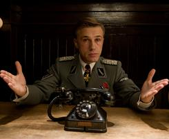 Christoph Waltz had a lot going for him in Inglourious Basterds: He was over 41 years old and had a villainous, fictional role.