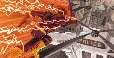 To make the Flash seem faster, artist Francis Manapul has focused less on creating speed lines around him and more on how his quickness affects the environment around him.