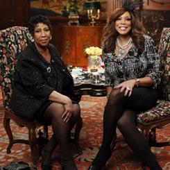 Aretha Franklin chatted with talk-show host Wendy Williams over &quot;high tea&quot; on Friday at the Townsend Hotel in Birmingham, Mich. Williams' interview with the Queen of Soul airs on Wednesday.