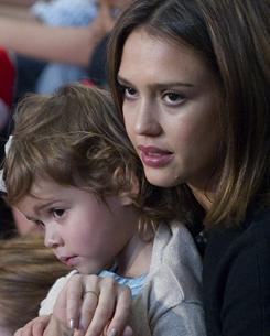 Actress Jessica Alba was among the celebrities attending the Read Across America event. She was there with daughter Honor Marie, 2.
