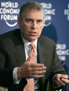 Britain's Prince Andrew, the queen's second son, pals around with a sex offender and allegedly has ties to Moammar Gadhafi's regime in Libya.