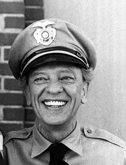 Don Knotts as the lovable deputy on The Andy Griffith Show.