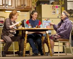 Teatime chat: Margie (Frances McDormand), center, with her friend Jean (Becky Ann Baker), left, and landlord Dottie (Estelle Parsons).
