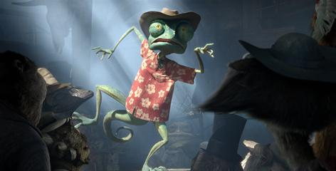 Colorful, cacophonous, cowboy territory: Chameleon Rango (Johnny Depp) has been freed from his terrarium existence and finds new friends and adventures in the town of Dirt.