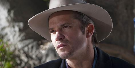 Timothy Olyphant: On the trail of bad checks on FX's Justified.