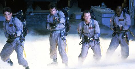 Ghostbusters: Harold Ramis, left, Dan Aykroyd, Bill Murray and Ernie Hudson try not to cross the streams.