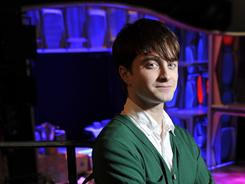 New stage: Daniel Radcliffe, who gained fame for playing Harry Potter, commands the Al Hirschfeld Theatre, where he will star in his first Broadway musical, a revival of How to Succeed In Business Without Really Trying.