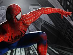 Publicity shot: Christopher Tierney played Spider-Man in the musical Turn Off the Dark before being injured during  a performance.