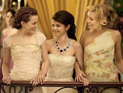 European vacation: Leighton Meester, left, Selena Gomez and Katie Cassidy head for the continent after high school.