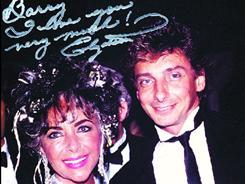 Barry Manilow played at an AIDS benefit Elizabeth Taylor put on, and she never forgot him for it.