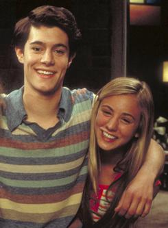 Recognize these two?: The OC's Adam Brody as Barry Williams and The Big Bang Theory's Kaley Cuoco as Maureen McCormick in in 2000's Growing Up Brady.