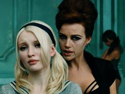 Baby Doll (Emily Browning) and Madam Gorski (Carla Gugino) star in Sucker Punch.