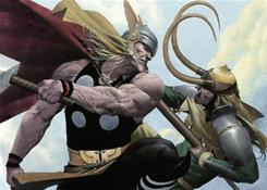Esad Ribic's paintings come to animated life in Thor &amp; Loki: Blood Brothers.