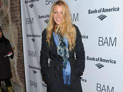 Blake Lively shows off a signature trench coat at the BAM Theater Gala earlier this month in New York.