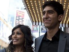 It happened between takes: Freida Pinto and Dev Patel quietly developed their relationship on the set of Slumdog Millionaire.