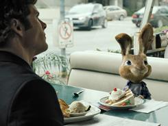 Fred (James Marsden) finds himself with the world's worst houseguest, E.B. (voiced by Russell Brand), teen son of the Easter Bunny.