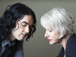 British bond: Oscar winner Helen Mirren and comic bad boy Russell Brand became friends during the filming of Arthur, a remake of the 1981 comedy.