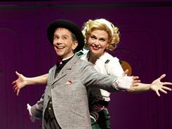 Broadway veteran Joel Grey plays a gangster to Sutton Foster's leading lady in the Cole Porter classic Anything Goes.
