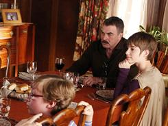 Sunday dinner with the Reagans: Tom Selleck and family always gather for a big meal at the end of every episode of Blue Bloods.