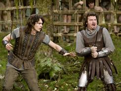 Good brother Fabious (James Franco), left, and slacker brother Thadeous (Danny McBride) must save a princess.
