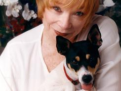 The love of her solitary life: Shirley MacLaine enjoys being alone with her thoughts, and with her spotted rat terrier, Terry.