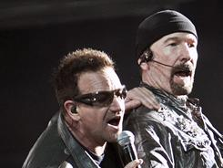 In Sao Paulo: Bono and The Edge perform in the show that put U2 over the top among all-time top-grossing rock tours.
