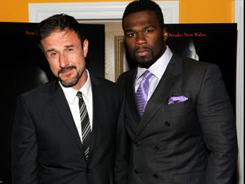 David Arquette, left, and 50 Cent attended a special screening of Scream 4 on Tuesday night in New York.