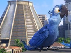 Birds of vibrantly colored feathers:Blu (voice of Jesse Eisenberg) is among the colorful cast of Rio.