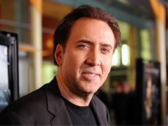 "Actor Nicolas Cage arrives at the screening of Summit Entertainment's ""Drive Angry 3D"" on February 22."