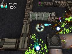 Extermination: In Centipede: Infestation, you shoot at bugs while playing as Max, a teen survivor of a nuclear war.