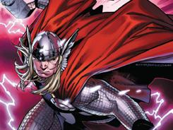 Marvel's resident thunder god has to deal with the threat of world devourer Galactus in The Mighty Thor, the new Matt Fraction series debuting next week.