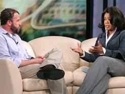 James Frey appears on Oprah Winfrey's show in 2006.