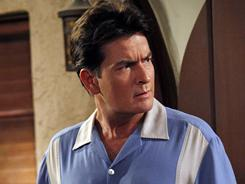 Charlie Sheen starred as jingle writer Charlie Harper in CBS comedy Two and a Half Men.