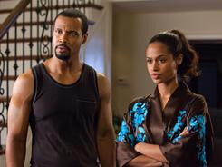 Isaiah Mustafa and Shannon Kane star in 'Tyler Perry's Madea's Big Happy Family,' hitting theaters Friday.