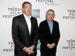 NBC News anchor Brian Williams, left, and Tribeca Film Festival co-founder Robert De Niro attend Tribeca Talks Directors Series: Robert De Niro With Brian Williams during the 2011 Tribeca Film Festival in New York on Saturday.