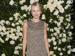 Naomi Watts shined in Chanel Monday night at the fashion house's annual dinner during the Tribeca Film Festival.