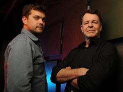 Multidimensional characters: Joshua Jackson, left, plays Peter Bishop, and John Noble is his father, Walter, in Fringe, which has already been renewed for next season.