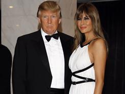 Donald and Melania Trump arrive at the Washington Hilton.
