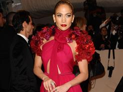 Jennifer Lopez arrives at the Metropolitan Museum of Art Costume Institute gala on Monday in New York.