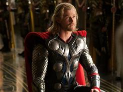 Bringing him back down to Earth: Thor (Chris Hemsworth), the god of thunder, is dropped into the desert to learn a lesson in humility.