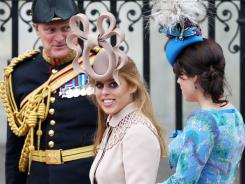 Princess Beatrice's headgear drew criticism at the royal wedding.