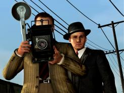 Detective Cole Phelps (Aaron Staton) is the main character in 'L.A. Noire.' Revolutionary MotionScan technology makes the face look and react just like that of the actor.