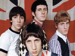 The Who, Pete Townshend, front,  Keith Moon, left, John Entwistle and Roger Daltrey in 1968 photograph.