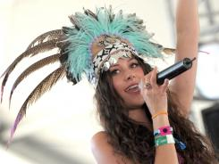 Singer Eliza Doolittle performs during the Coachella Valley Music & Arts Festival.