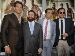 Another 'Hangover': Bradley Cooper, left, Zach Galifianakis, Ed Helms and director/co-writer Todd Phillips pose at the premiere of the film Thursday in Los Angeles.