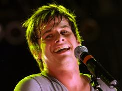 Mark Foster of Foster the People performs at the Coachella Valley Music & Arts Festival April 17.
