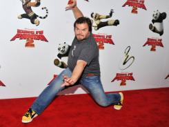 Actor Jack Black attends the New York premiere of Kung Fu Panda II at the Ziegfeld Theatre.
